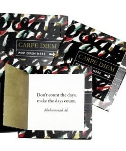 Pop open kaartjes Carpe diem