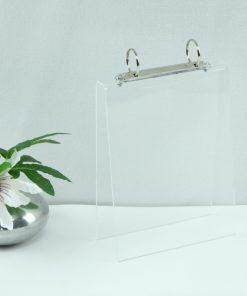 Tafel flip-over A5 transparant staand