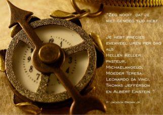 Inspiratiekaart timemanagement; Foto: Moment in time van Vivianne Draper