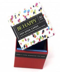 Pop open kaartjes Be Happy
