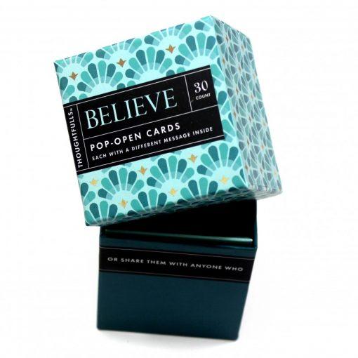 Pop open kaartjes Believe