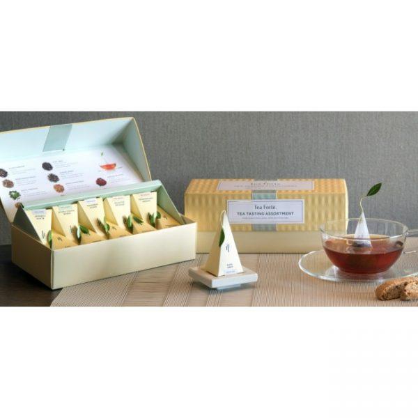Tea tasting assortiment medium van Tea Forté in luxe Presentatie doos