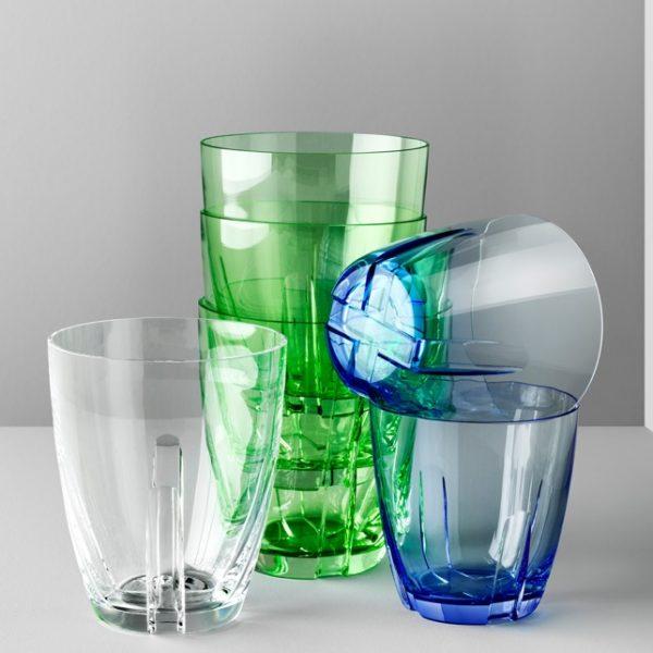 Bruk drinkglazen set van 2 blauw