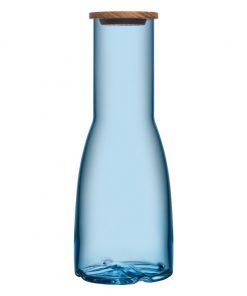 Bruk karaf met eiken deksel blauw