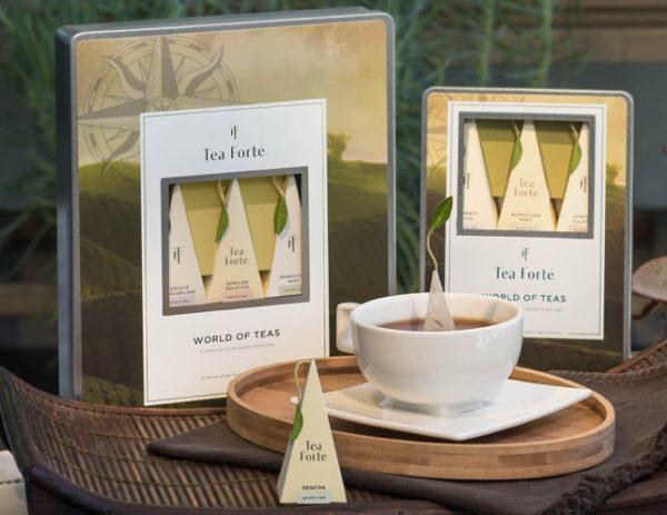 Worlds of teas metalen geschenkdoos van Tea Forté