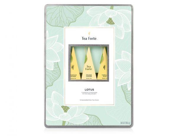 Lotus metalen geschenkdoos van Tea Forté