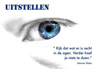 Uitstellen; Foto: Me, myself and eye by Scott Robinson