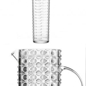 Guzzini Tiffany karaf met infuseur en 6 glazen