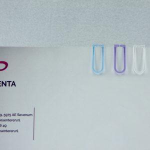 Transparante paperclips paars-blauw-wit (60 stuks)