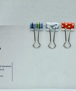 Bindklemmen klein in kleurrijk design (12 stuks)
