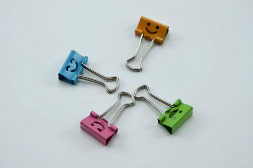 Bindklemmen kleine kleurrijke Smileys (8 stuks)