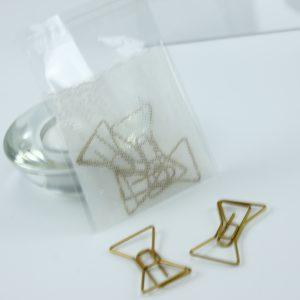 Grote goudkleurige paperclip Strik (5 stuks)