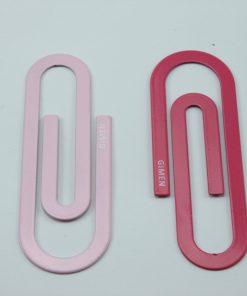 Mega metalen paperclips roze