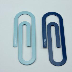 Mega metalen paperclips blauw