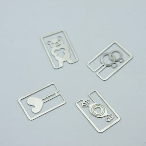 Metalen bookmark/paperclip Sweet love