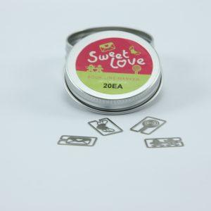 Metalen bookmark/paperclip Sweet love