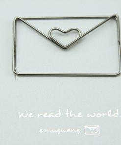 Grote metalen paperclip/boekenlegger Envelop
