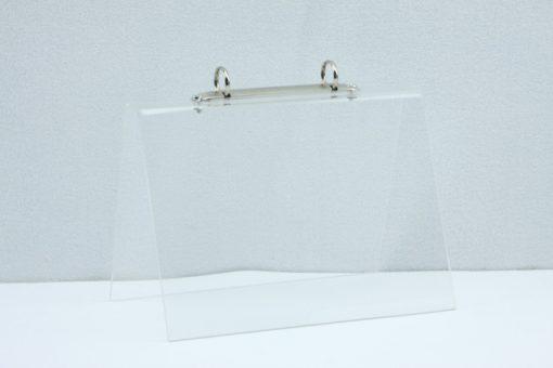 Tafel flip-over A5 transparant