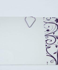 Waterdruppel paperclip in metallic paars (50 stuks)