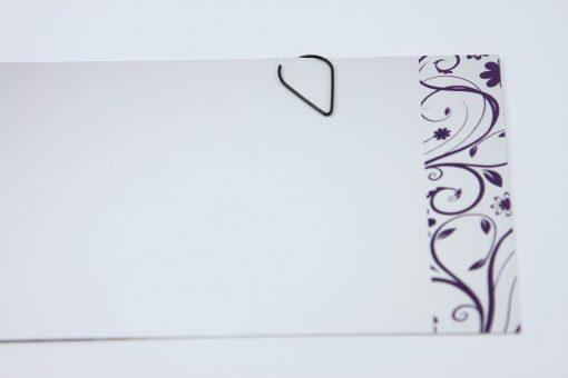 Waterdruppel paperclip in metallic zwart (50 stuks)