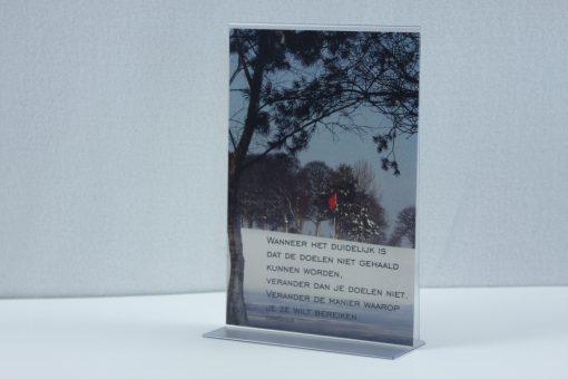 Transparante tafelstandaard A5 staand