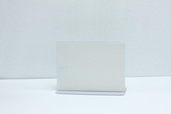 Transparante tafelstandaard A6 liggend