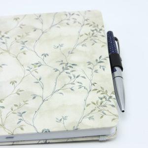 Metalen notitieboek clip voor pen zilver