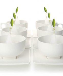 Solstice theekop met schotel set van 6 van Tea Forté