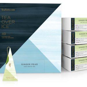 Ginger pear ijsthee van Tea Forté voor Thee over ijs