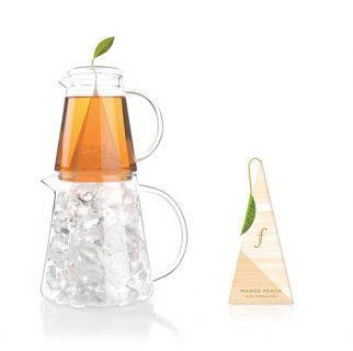 Mango Peach Ijsthee Van Tea Forte Voor Thee Over Ijs