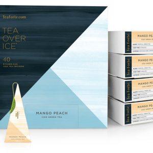 Mango Peach ijsthee van Tea Forté voor Thee over ijs
