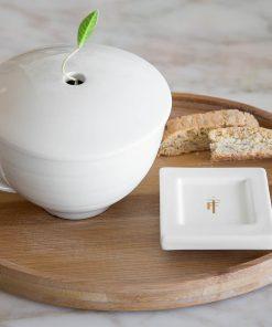 Ovalen bamboe dienblad van Tea Forté
