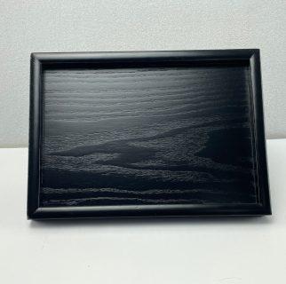 Rechthoekig zwart houten presentatie en dienblad