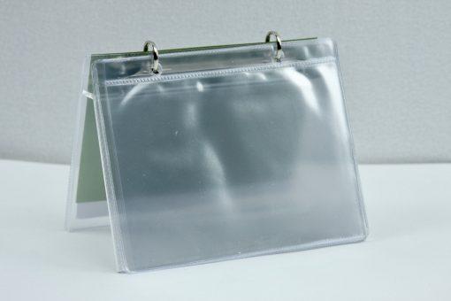 Tafel flip-over A6 transparant