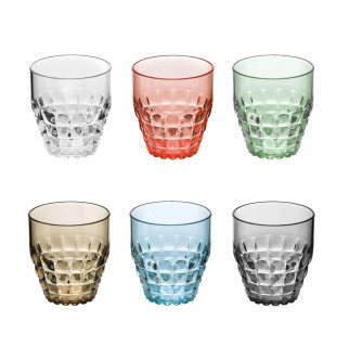 Tiffany drinkglas set van 6 multi color van Guzzini