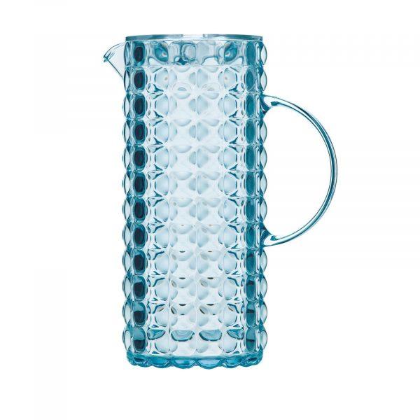 Tiffany karaf met infuseur blauw