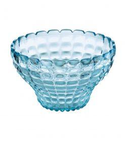 Guzzini Tiffany blauw Grote kom met 6 schaaltjes en bestek