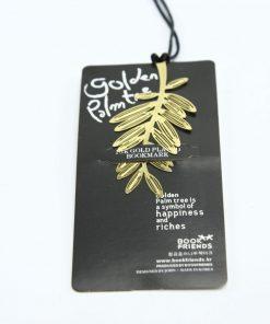 Vergulde boekenlegger gouden palmtak