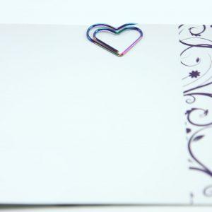 Regenboog metalen paperclip hart 5 stuks
