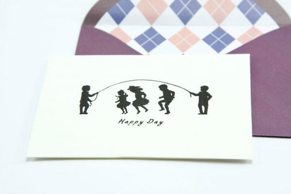 Wenskaartje kleurrijk met envelop Happy day