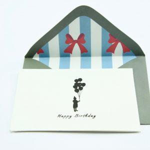 Wenskaartje kleurrijk met envelop Happy birthday