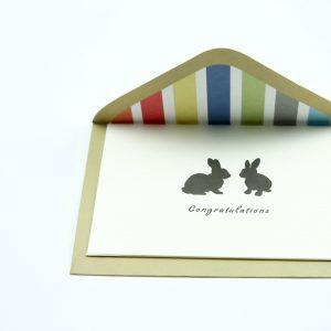 Wenskaartje kleurrijk met envelop Congratulations