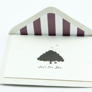 Wenskaartje kleurrijk met envelop Just for you