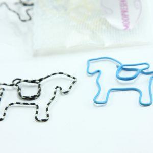 Gemengd metalen paperclip paard 5 stuks