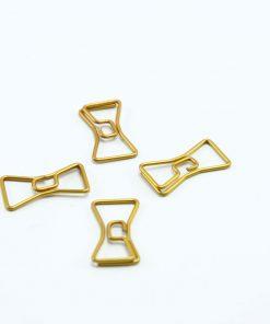 Kleine goudkleurige paperclip Strik 25 stuks