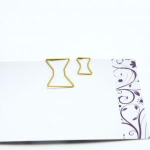 Kleine goudkleurige paperclip Strik (5 stuks)