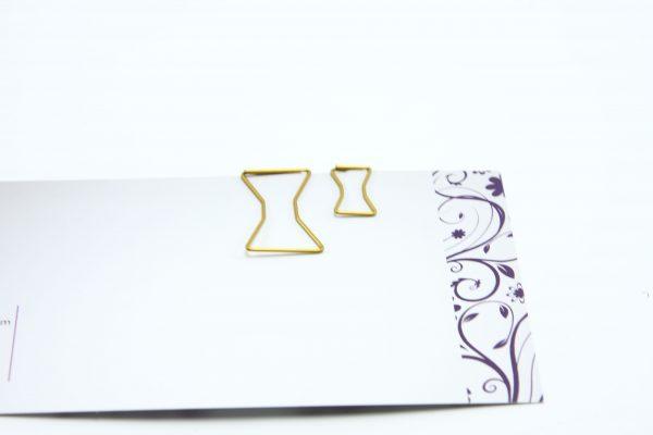 Grote goudkleurige paperclip Strik 25 stuks