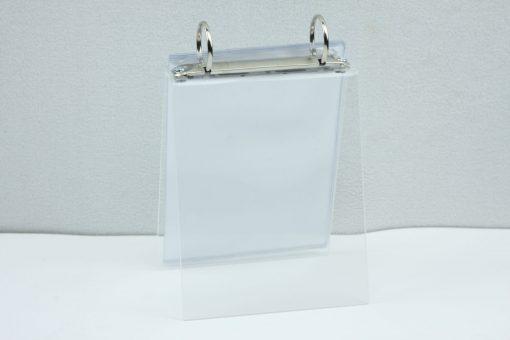 Tafel flip-over A6 transparant staand
