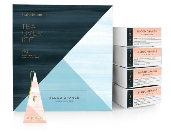 Blood orange ijsthee van Tea Forté voor Thee over ijs