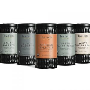 Ginger Lemongrass Losse thee blaadjes in elegante theebus